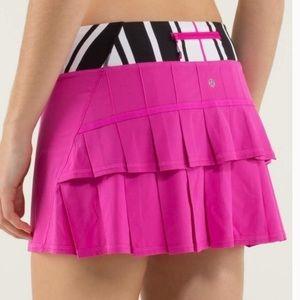 NWOT Lululemon Run: Pace Setter Skirt Pink